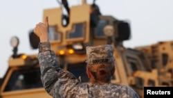 Военнослужащая армии США.