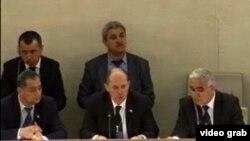 Делегация Таджикистана в Женеве в Совете ООН по правам человека в 2012 году.