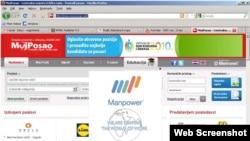 Screenshot web portala moj-posao.net, 2. septembar 2010