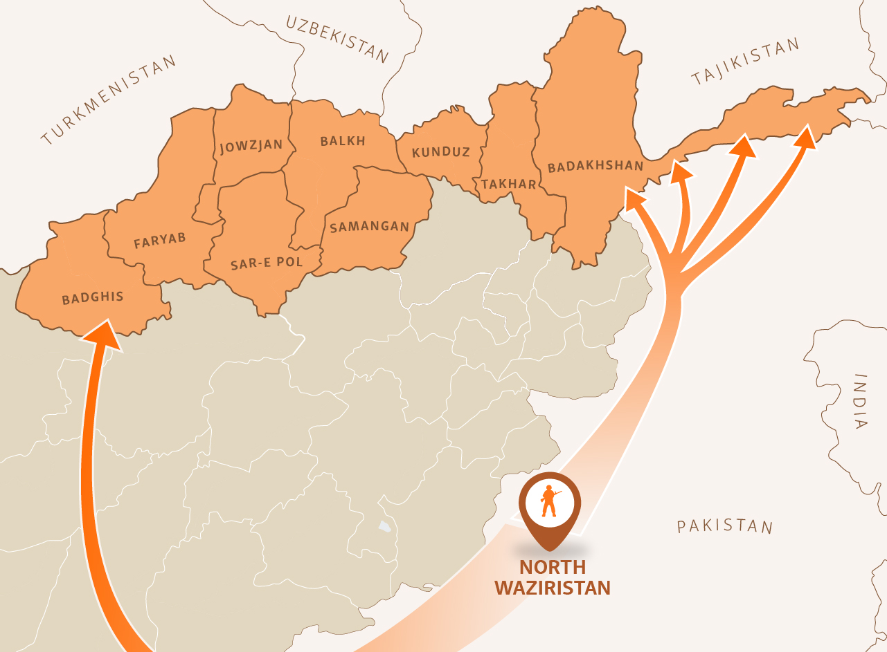 in the years after the collapse of the taliban regime following the resolution of a conflict between rival factions of afghanistan s former northern