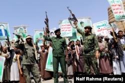 Бойцы-хуситы в Сане. Ноябрь 2018 года