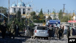File photo of a Taliban suicide attack near Kandahar in November.