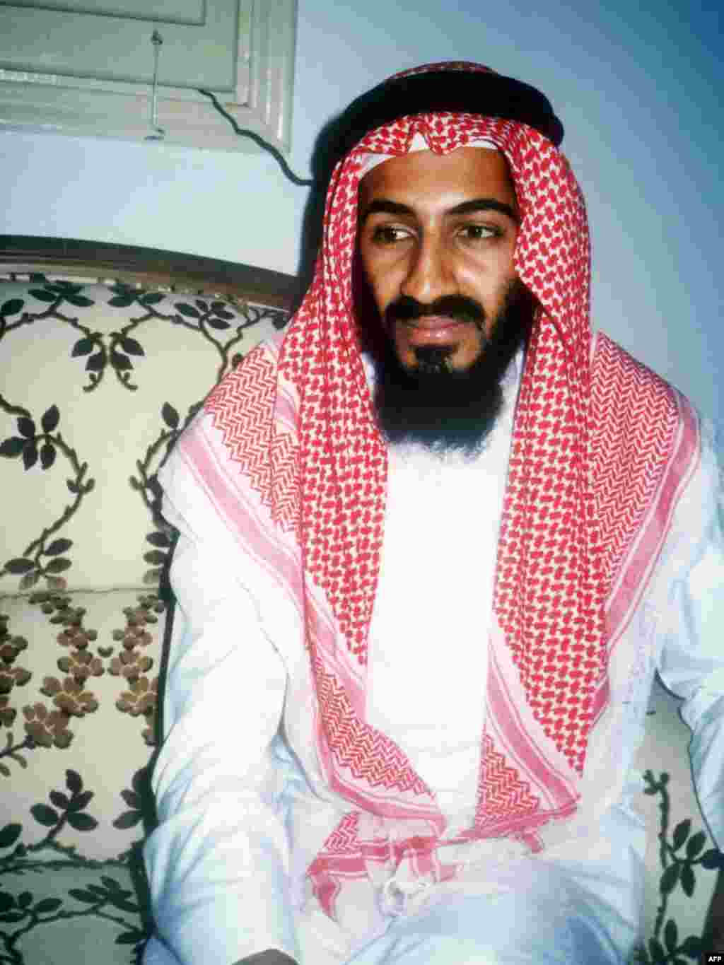 Osama bin Laden in traditional Saudi dress in this 1988 photo taken in Jeddah.