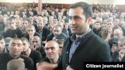 Ադրբեջանցի ազատազրկված ակտիվիստ Բախտիյար Հաջիեւ, Բաքու, ապրիլ, 2012թ.
