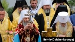 Молебень УПЦ (МП) до річниці хрещення Київської Русі-України, Київ, 27 липня 2017 року