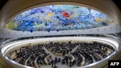 од последната сесија на Советот на ОН за човекови права во Женева. 25 февруари 2013.