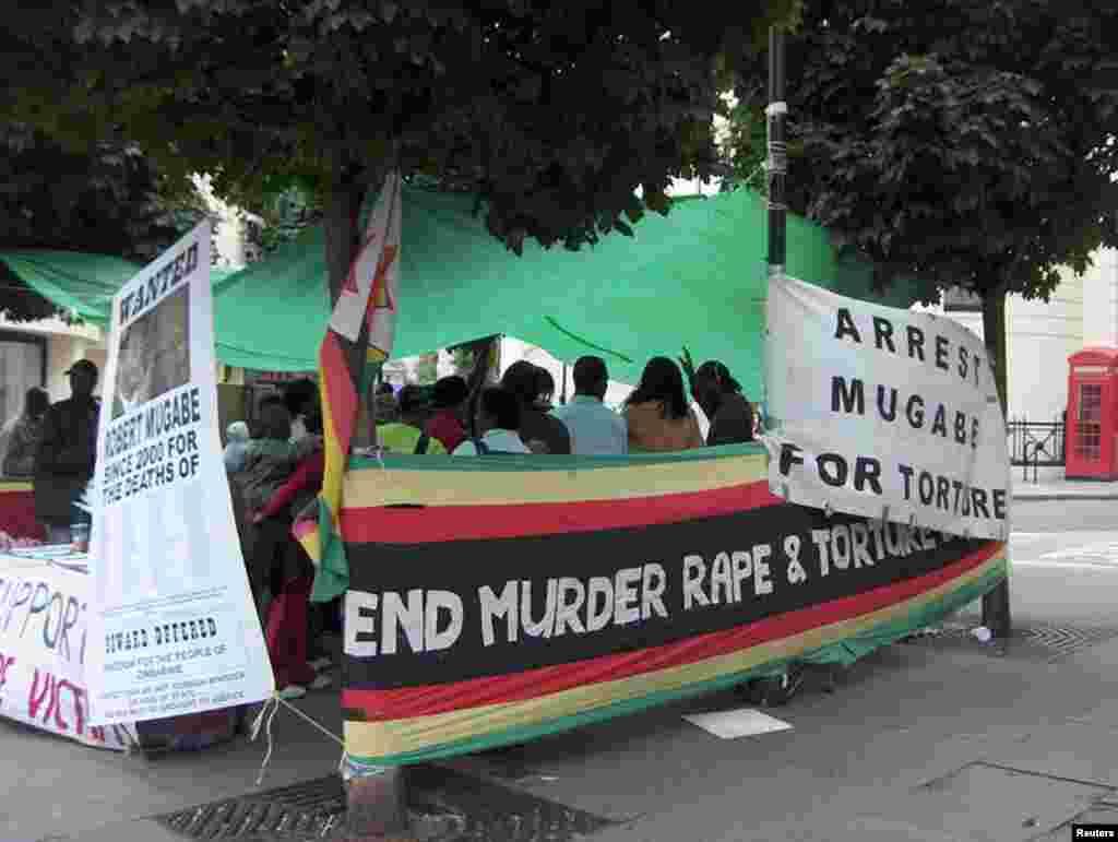 Демонстрация протеста против режима Мугабе. Хараре, 2016 год.