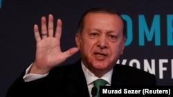 Архивска фотографија-претседателот на Турција Реџеп Таип Ердоган