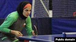 Ирандық үстел теннисшісі Неда Шахсавари