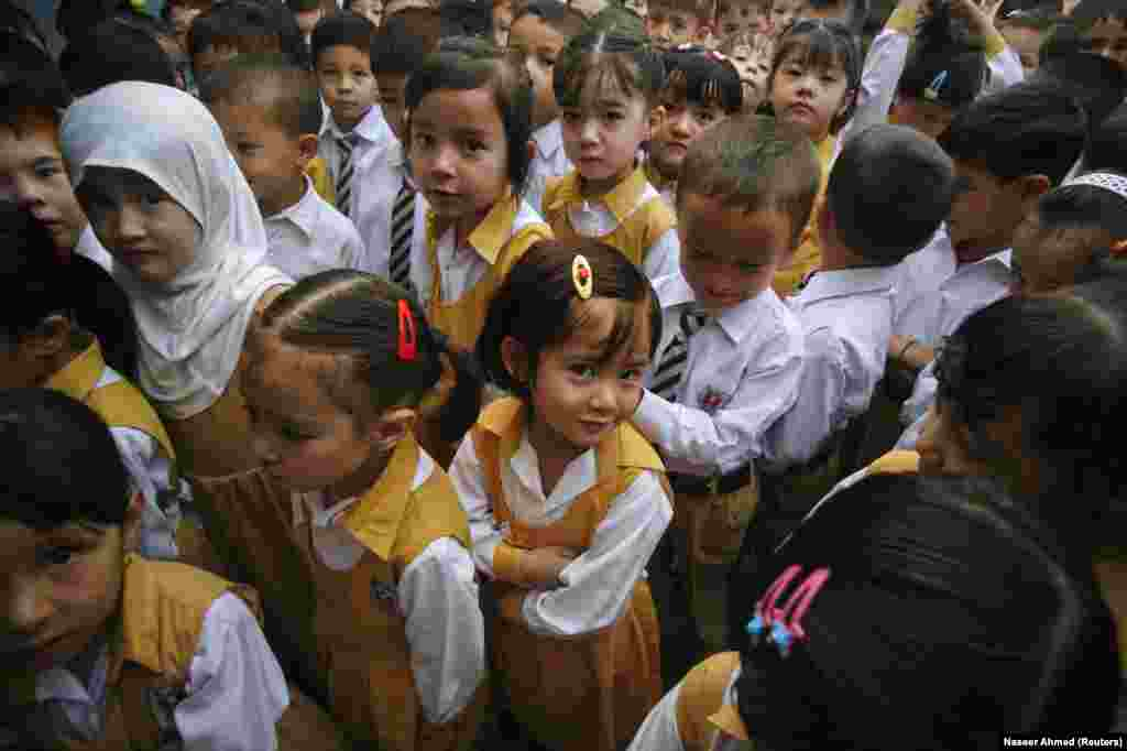 Hazara schoolchildren in Quetta. Most Hazara are Shi'ite Muslims and a frequent target for Sunni extremists.