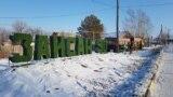 Зайсан қаласындағы көшелердің бірі. Шығыс Қазақстан облысы. 7 қаңтар 2020 жыл.