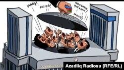 """""""Milli Məclisdə etiraz dalğası"""". Karikatura. Gündüz Ağayev. 07okt2017"""