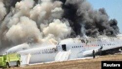 San Fransisko hava limanına enərkən qəzaya uğrayan Boeing 777 təyyarəsi