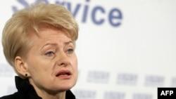 Новоизбранный президент Литвы Даля Грибаускайте