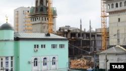 Снос Соборной мечети. Москва, 12 сентября 2011 года.