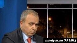 ԱԺ պատգամավոր Հրանտ Բագրատյանը «Ազատության» ստուդիայում, արխիվ: