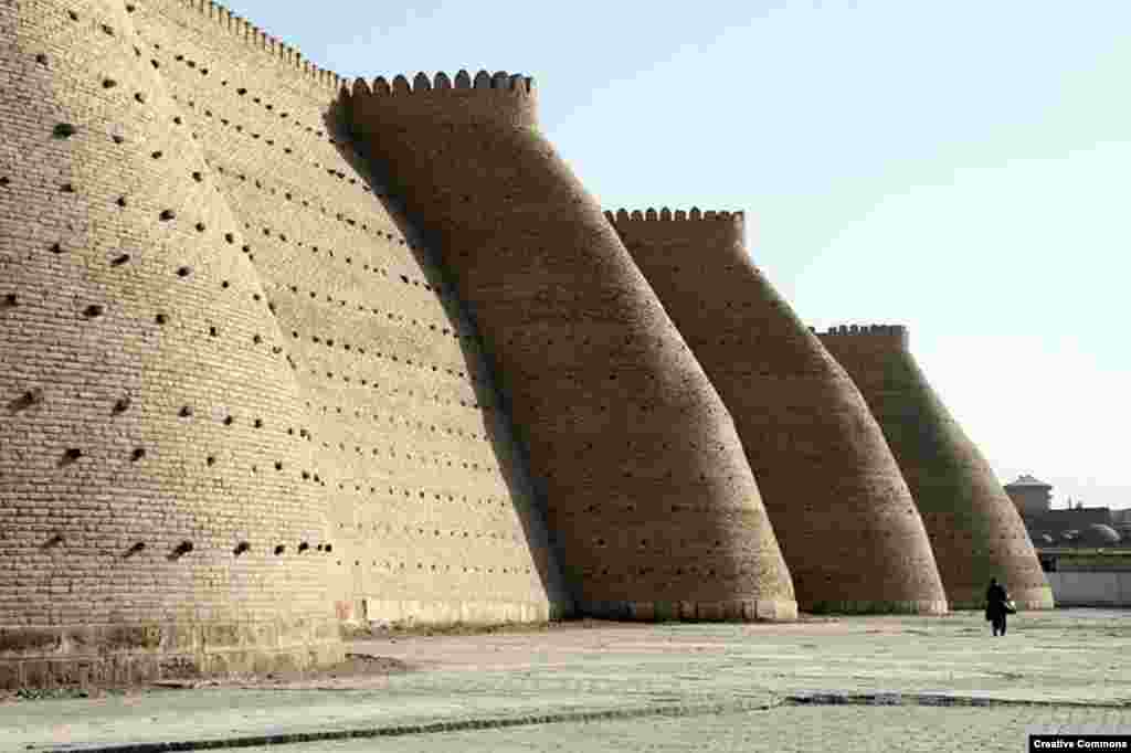 Bukhara's massive Ark fortress, which was built in the fifth century