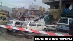 Место взрыва в Кветте