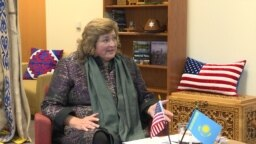 Kazakhstan - U.S. - Kari Johnstone, Deputy Director for the Office to Monitor and Combat Trafficking in Persons in the Department of State. Nur-Sultan, November 2019.