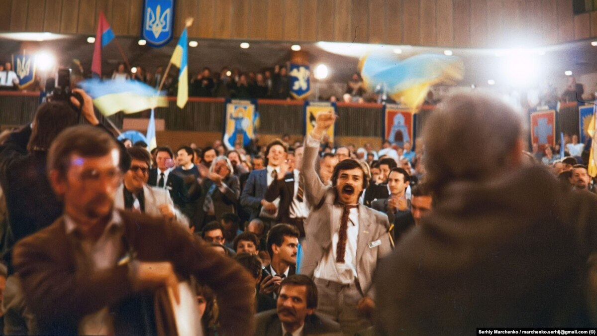 На съезде царило приподнятое настроение – Ярослав Кендзер Учредительный съезд НРУ