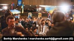 Під час Установчого з'їзду Народного руху України, який проходив у Києві 8–10 вересня 1989 року. Панував піднесений настрій, який у певні моменти переростав в ейфорію