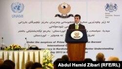 رئيس حكومة اقليم كردستان نجيرفان برزاني في المؤتمر