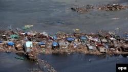 Одно из селений на востоке Филиппин - после урагана.