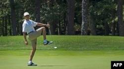 Обама дар майдони голф