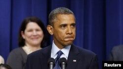 АҚШ президенті Барак Обама. Вашингтон, 31 желтоқсан 2012 жыл.