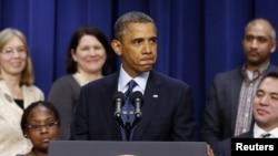 Barak Obama prilikom govora o dijalogu o fiskalnoj provaliji