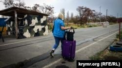 КПВВ «Каланчак» на межі з анексованим Росією Кримом
