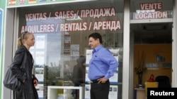Одно из испанских агентств по продаже недвижимости. Вывески на русском языке стали непременным атрибутом этого бизнеса