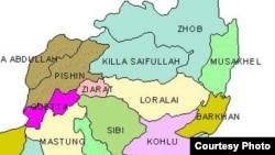 د بلوچستان ځینې پښتنې سیمې