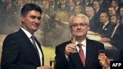 Zoran Milanović i Ivo Josipović, 2012.