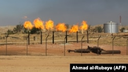 نمایی از میدان نفتی «بای حسن» در غرب شهر کرکوک