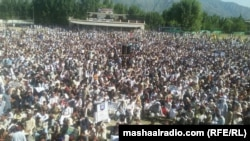 FILE: A protests in Swat to protest against the grave human rights abuses in the region.
