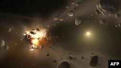 Ilustracija, asteroidi