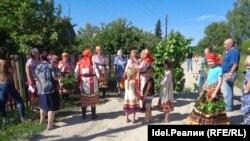Гуляния в национальный праздник эрзя в Мордовии. Архивное фото
