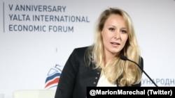 Маріон Марешаль-Ле Пен на форумі в Ялті, 19 квітня 2019 року