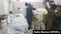 The body alleged to be that of Mullah Akhtar Mansur is shown in a hospital in Quetta, in Pakistan's Balochistan Province.