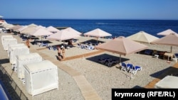 Пляж в Партените, 4 июля 2020 года