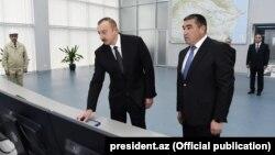 İlham Əliyev (solda) və Etibar Priverdiyev Mİngəçevir İES yeni təmirindən sonra açılış edir, 27 fevral 2017