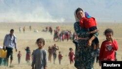 فرار جمعی آوارگان ایزدی در بیابانهای عراق
