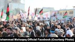 په دې مظاهره کې د اجراییه ریاست دویم مرستیال محمد محقق چې د ثبات او همپالنې د انتخاباتي ټیم غړی دی برخه درلوده.