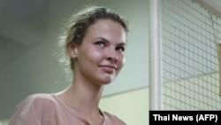Anastasia Vashukevich, also known as Nastya Rybka, in Pattaya in August