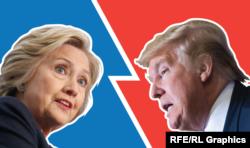 Кандидати на виборах президента США Гілларі Клінтон (ліворуч) і Дональд Трамп