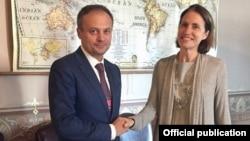 Vicepreședintele PD, Andrian Candu, la întîlnirea cu Fiona Hill, directoarea pentru Europa și Federația Rusă în Consiliul Național de Securitate al SUA, 20 septembrie 2018