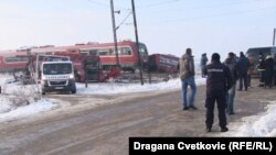 Serbian state TV said that the bus was carrying local children to school.