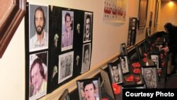 عدد من صور الشهداء في حفل الاستذكار