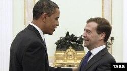 Preşedinţii Barack Obama şi Dmitri Medvedev la Kremlin